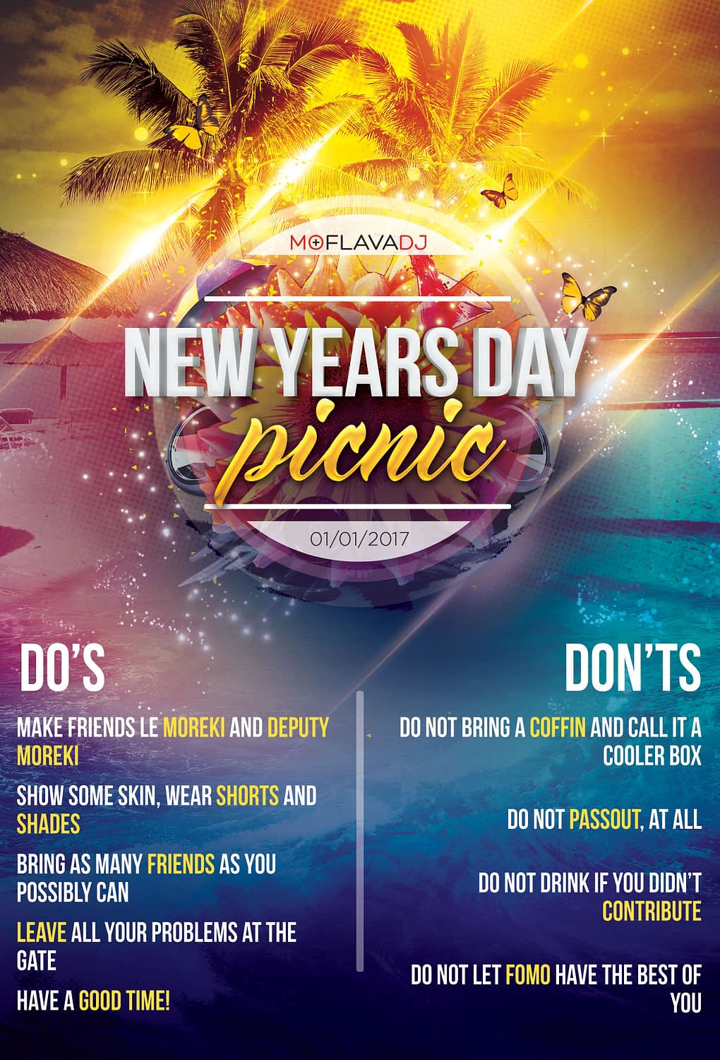 New Years Day Picnic '17 DOs & DONTs | KEMOSO