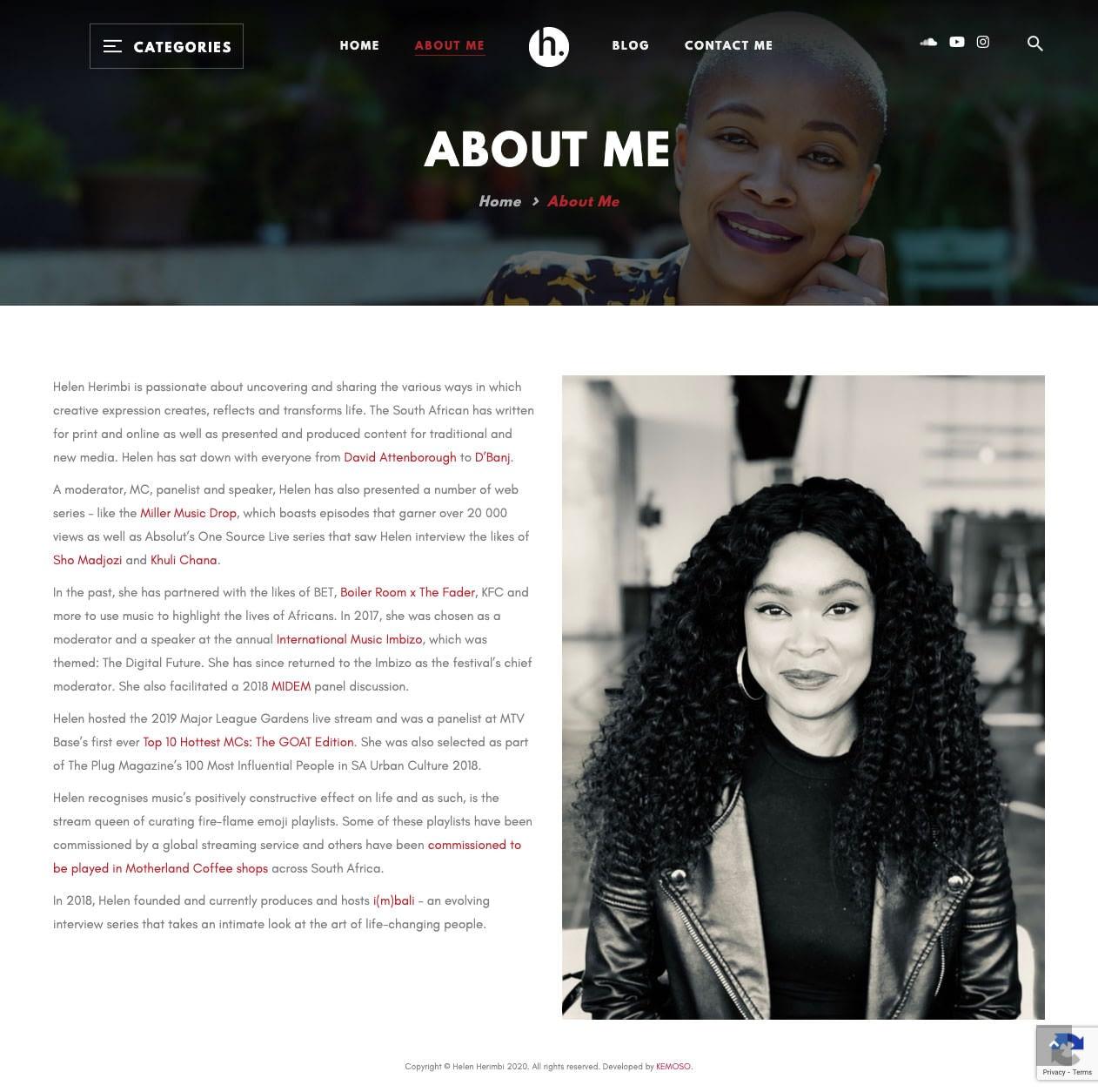 Helen Herimbi (About Page) | KEMOSO