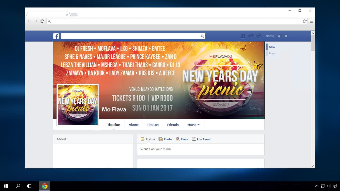 New Years Day Picnic '17 Facebook Cover | KEMOSO
