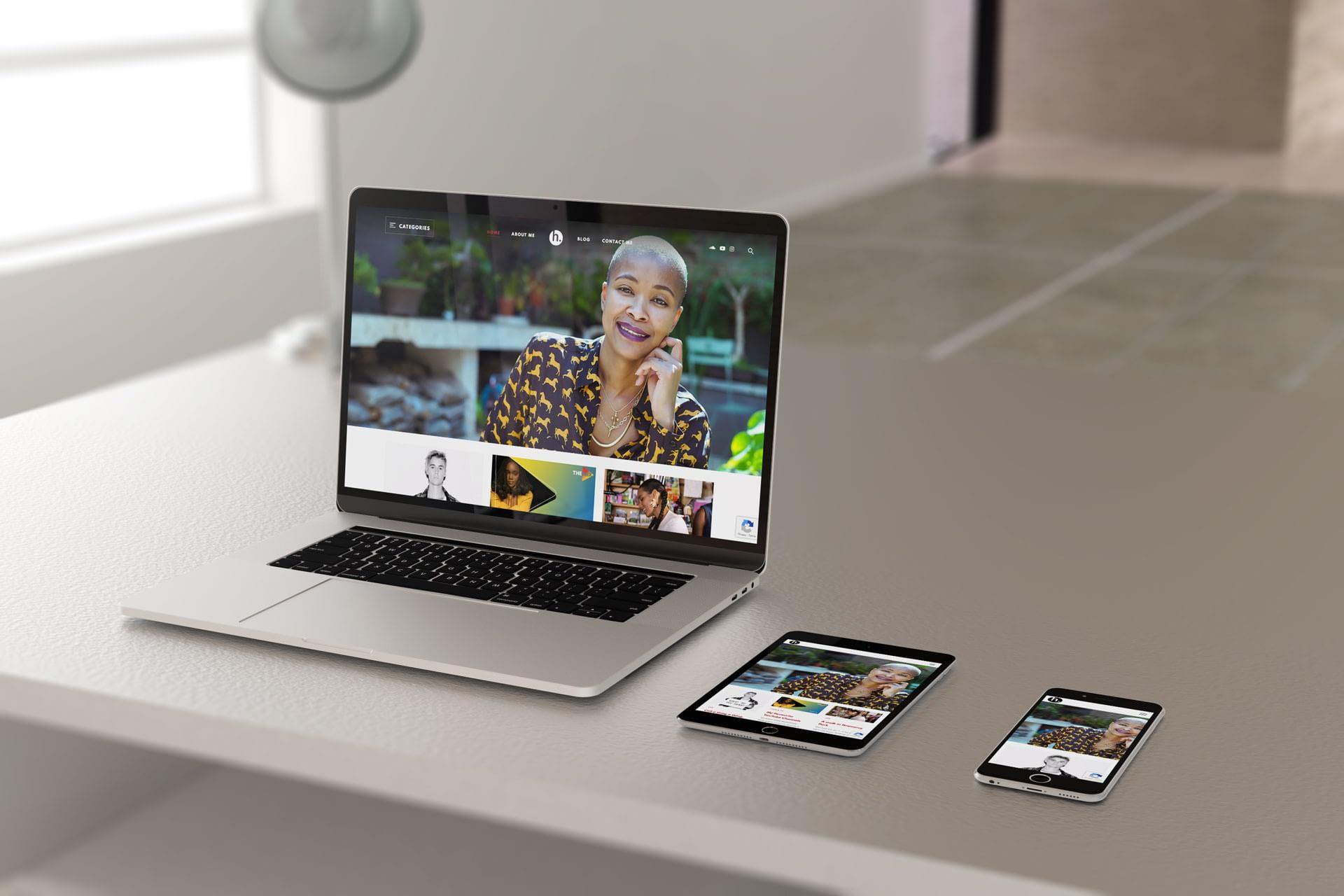 Helen Herimbi Website (Laptop | Tablet | Smartphone) | KEMOSO