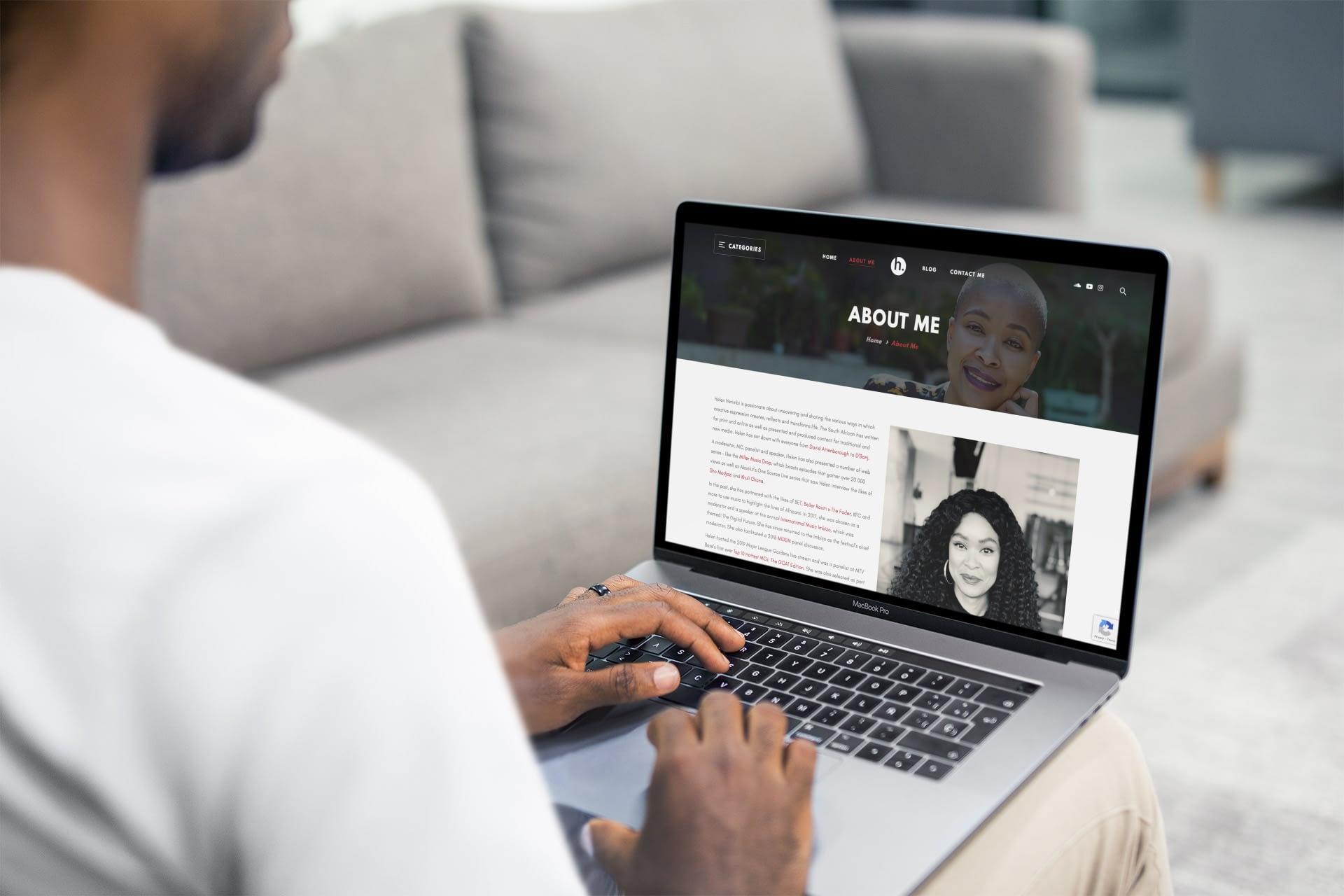 Helen Herimbi Website (Laptop) | KEMOSO