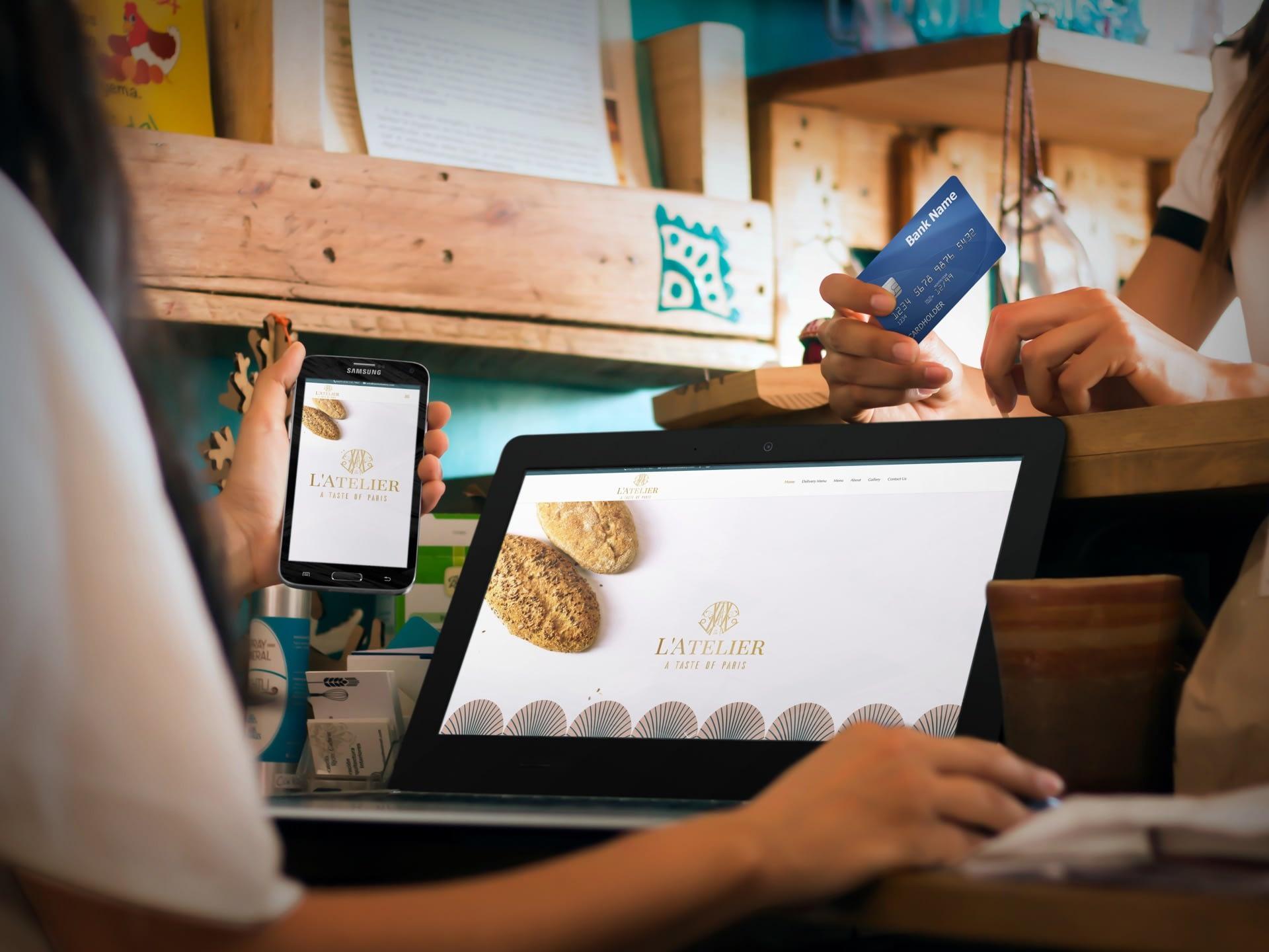 Latelier Bakery Website (Laptop & Smartphone) | KEMOSO