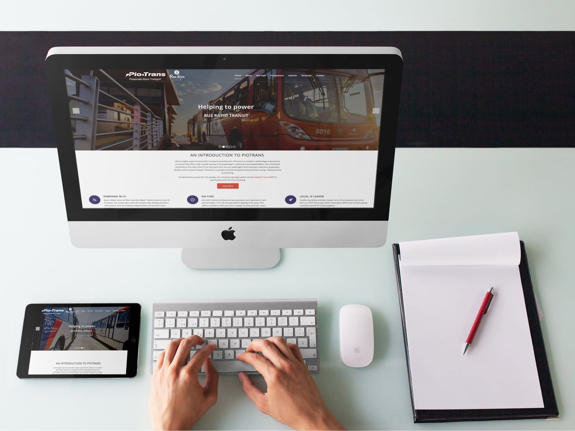 Piotrans Website (Desktop & Tablet)   KEMOSO