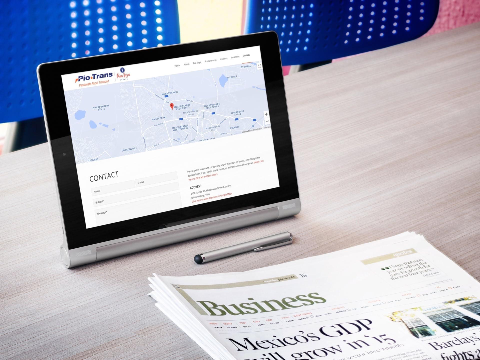 Piotrans Website (Tablet)   KEMOSO