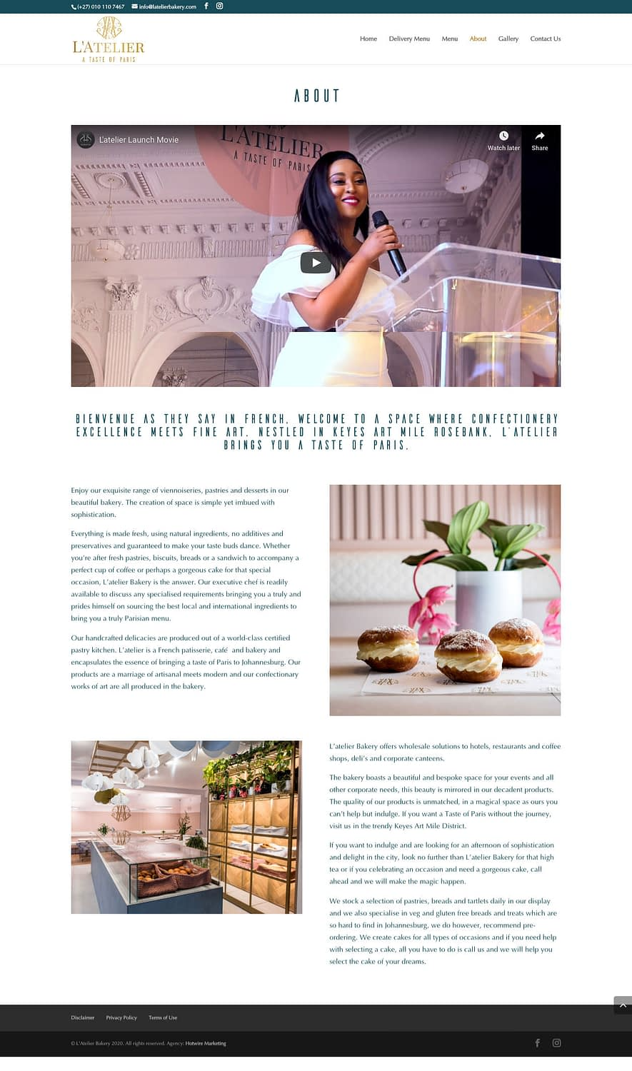 Latelier Bakery (About Page) | KEMOSO