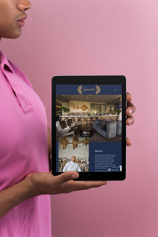 Epicure Restaurant Website (Tablet) | KEMOSO