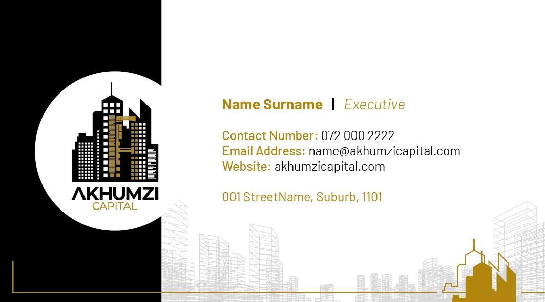 Business Card for Akhumzi Capital | KEMOSO