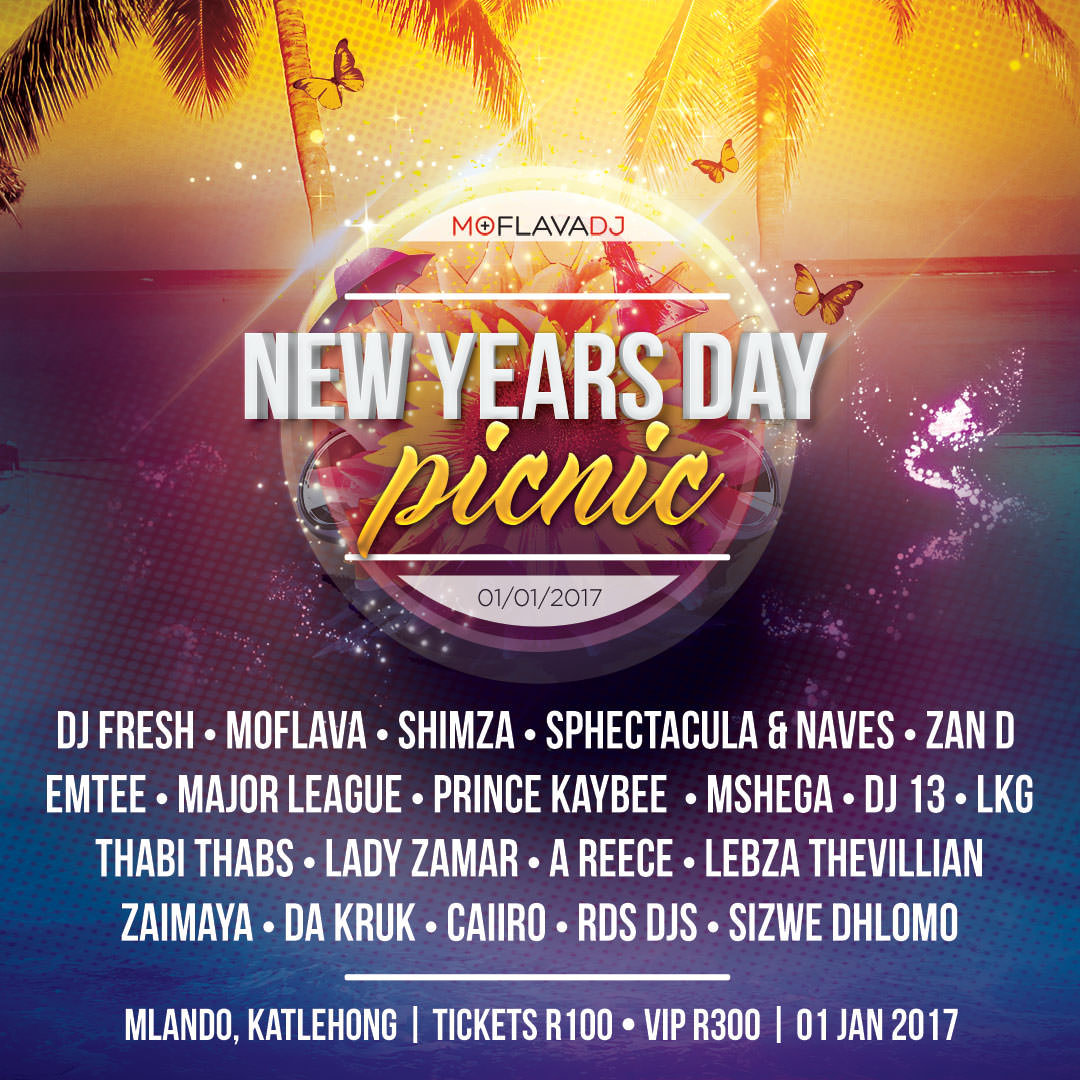 New Years Day Picnic '17 Square Flyer | KEMOSO