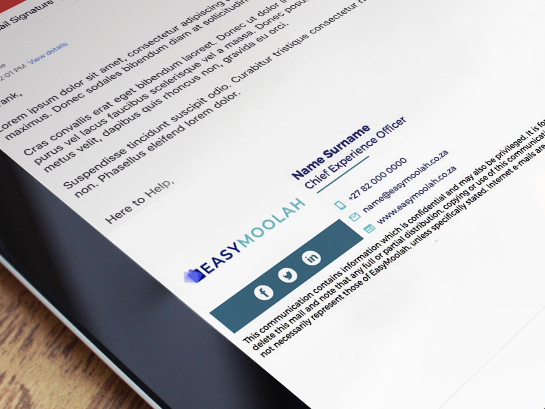 EasyMoolah Email Signature Mockup | KEMOSO