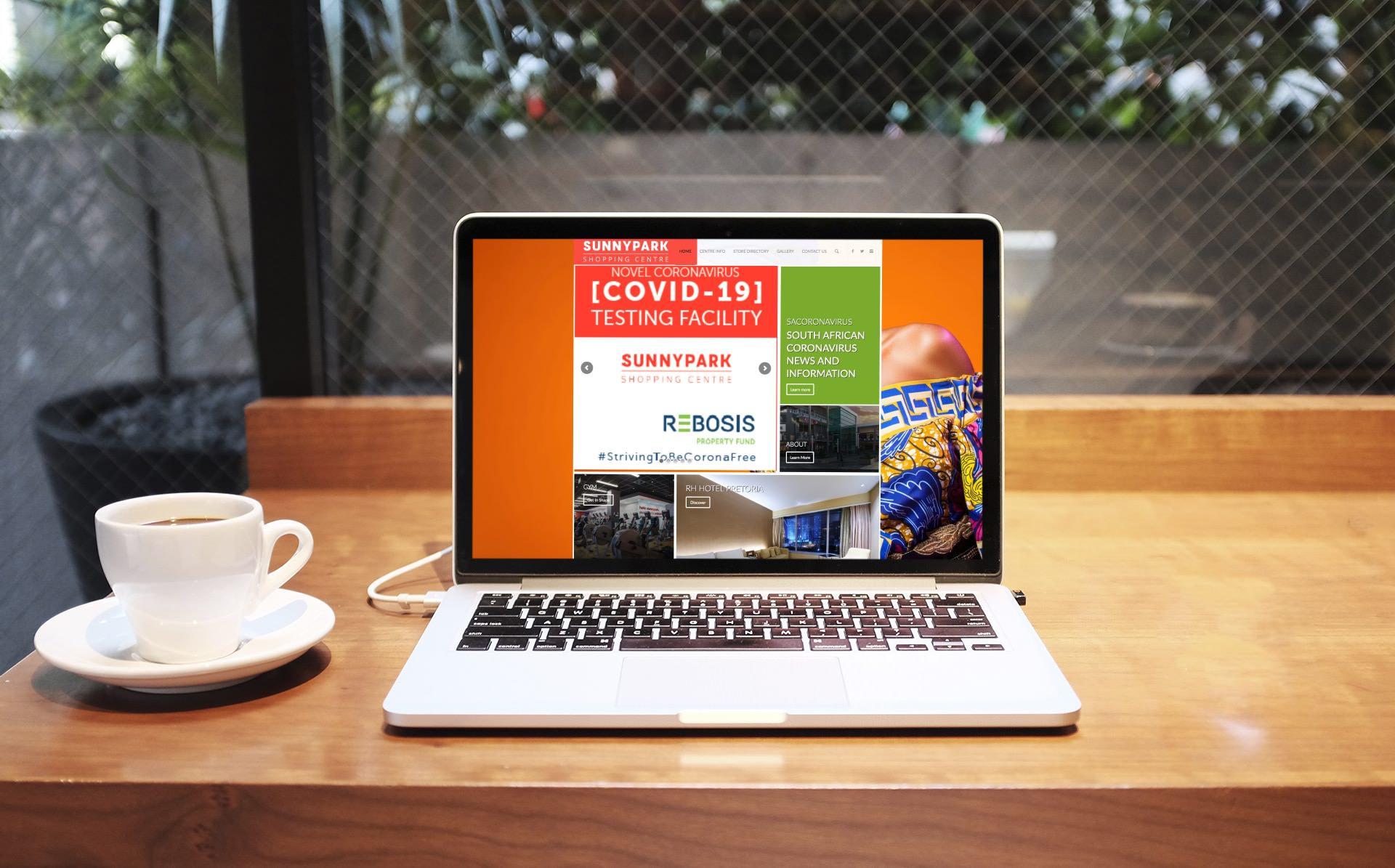 Sunnypark Center Website (Macbook Pro) | KEMOSO
