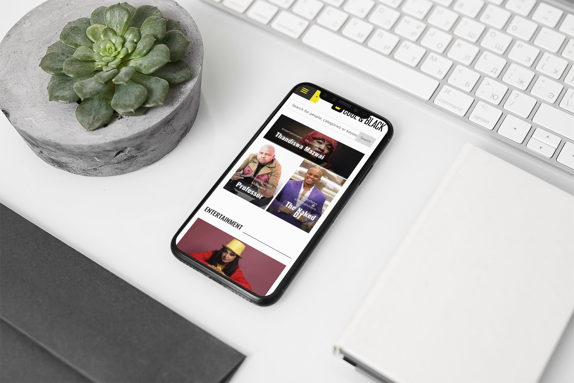 Cool&Black Website (Smartphone) | KEMOSO