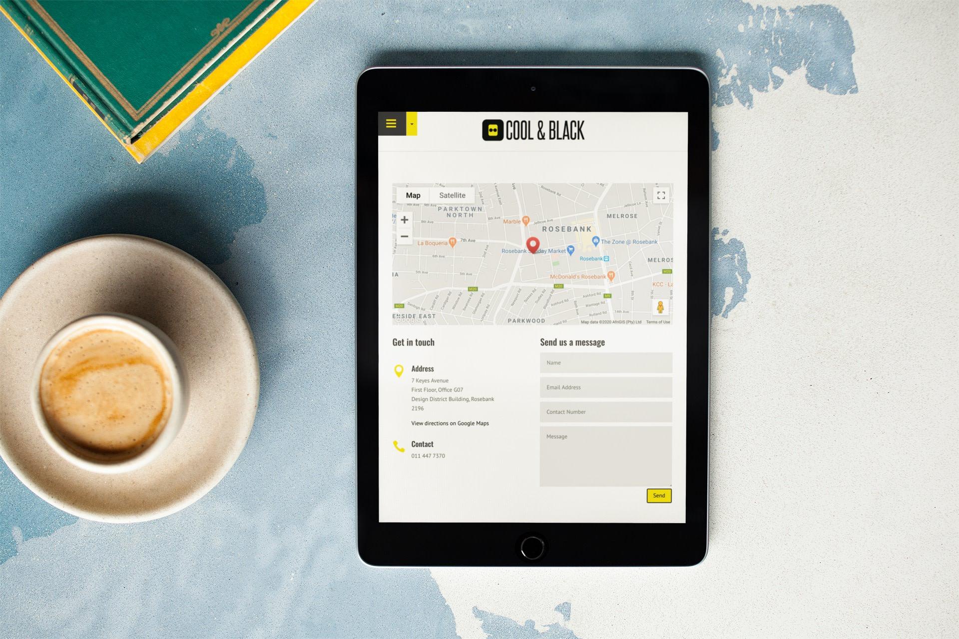Cool&Black Website (Tablet) | KEMOSO
