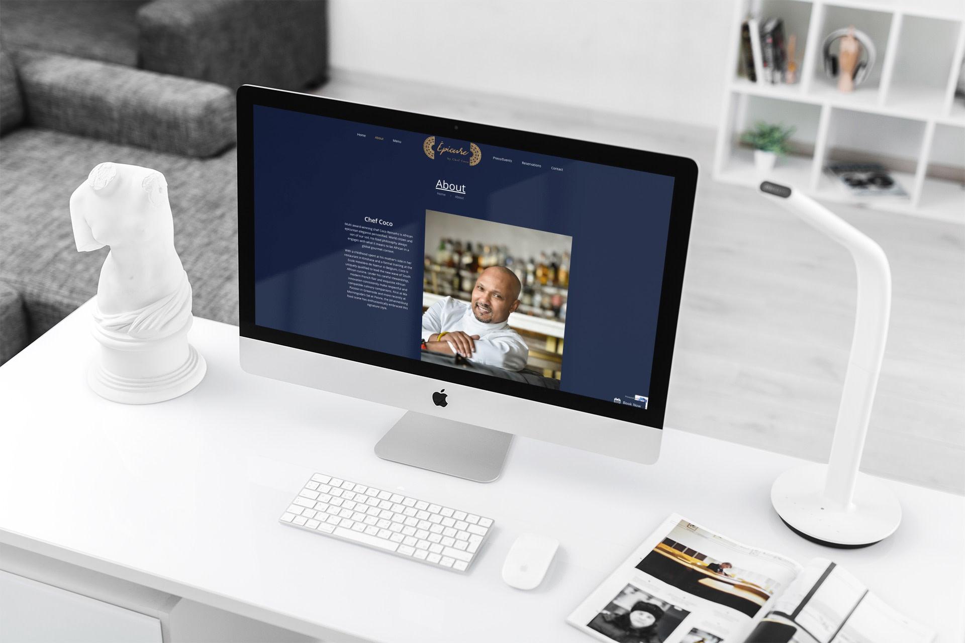 Epicure Restaurant Website (Desktop) | KEMOSO