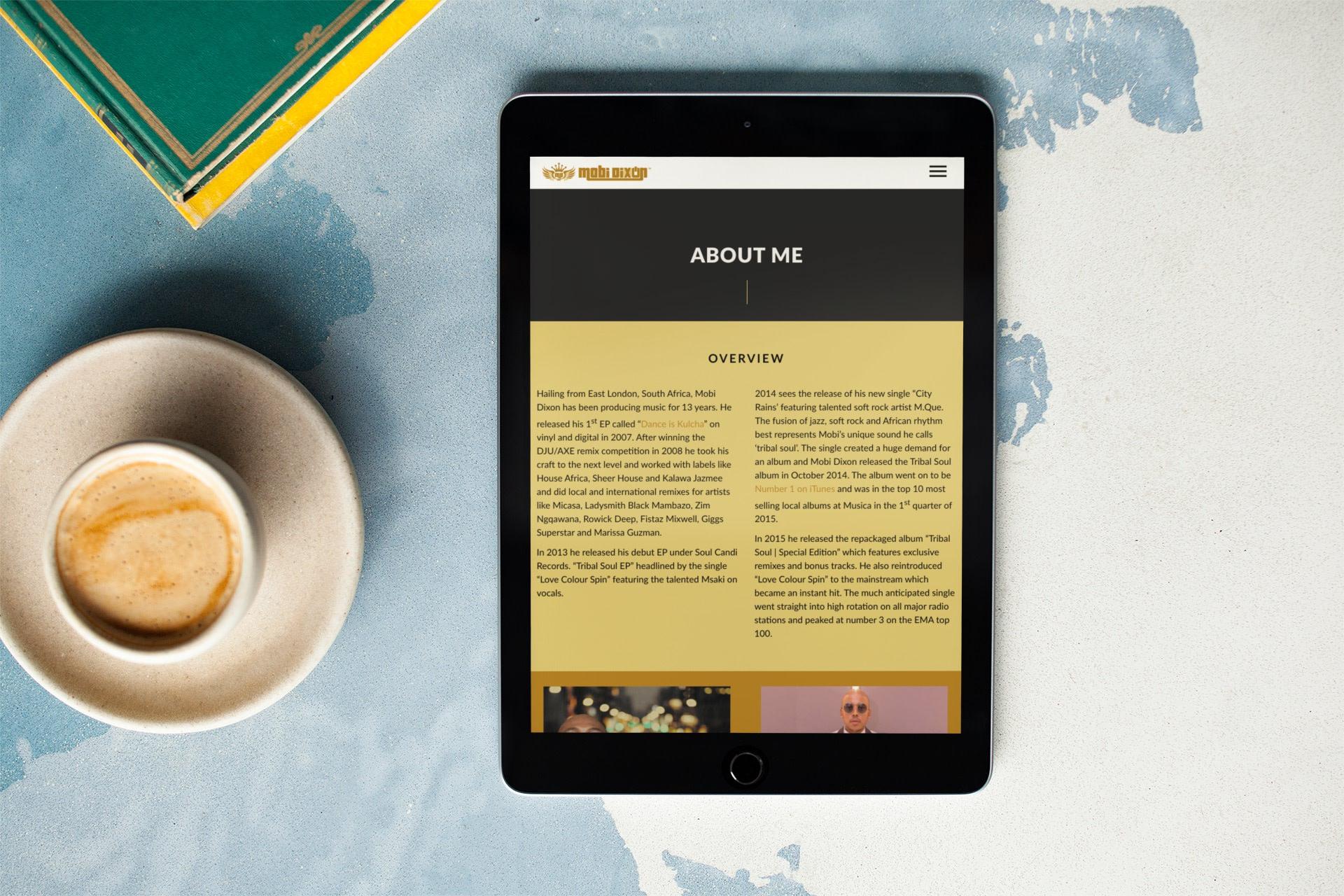 Mobi Dixon Website (Tablet) | KEMOSO