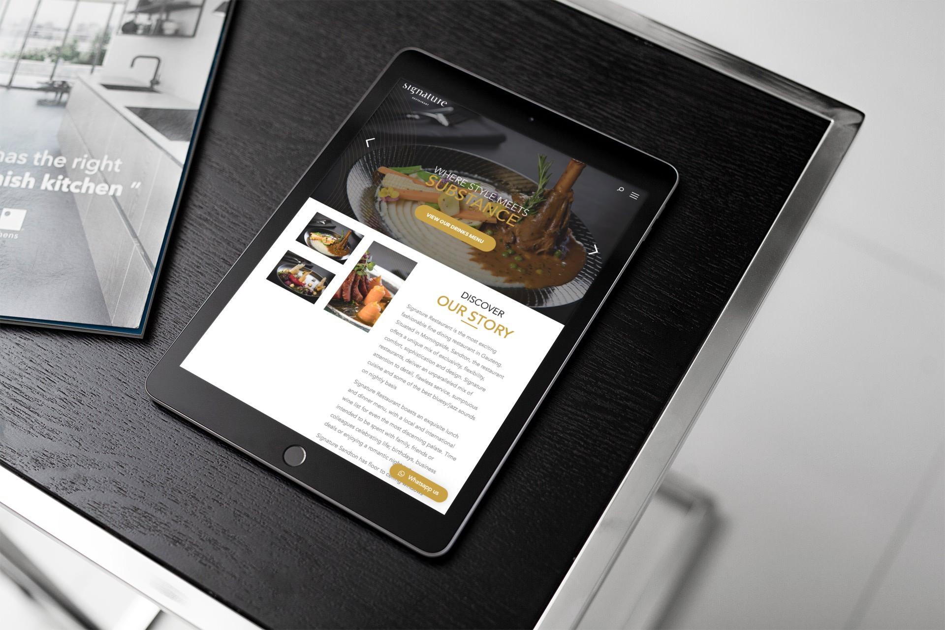 Signature Restaurant Website (iPad) | KEMOSO