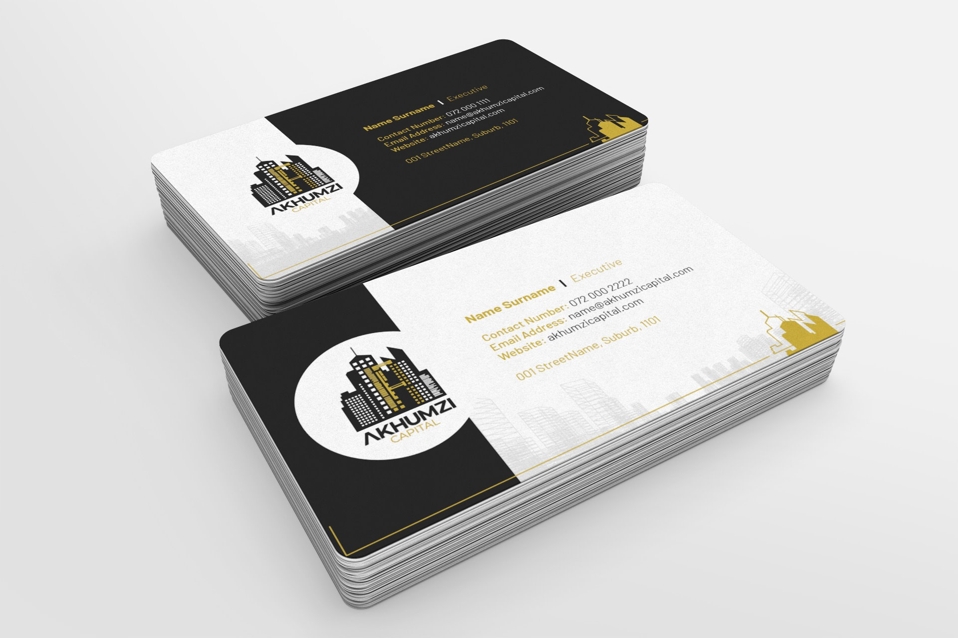 Business Cards for Akhumzi Capital | KEMOSO