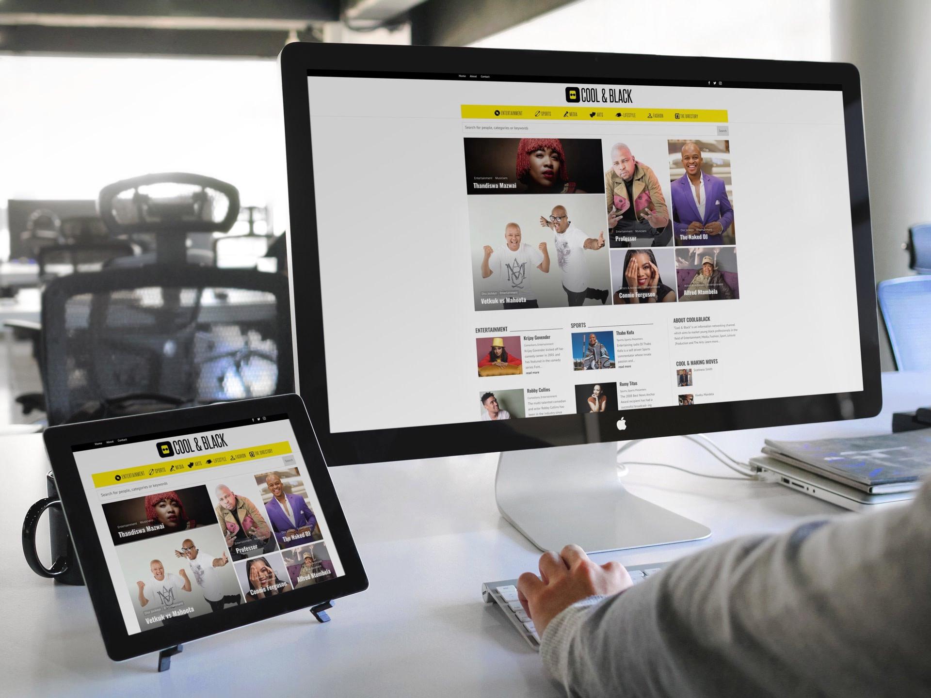 Cool&Black Website (Tablet | Desktop) | KEMOSO