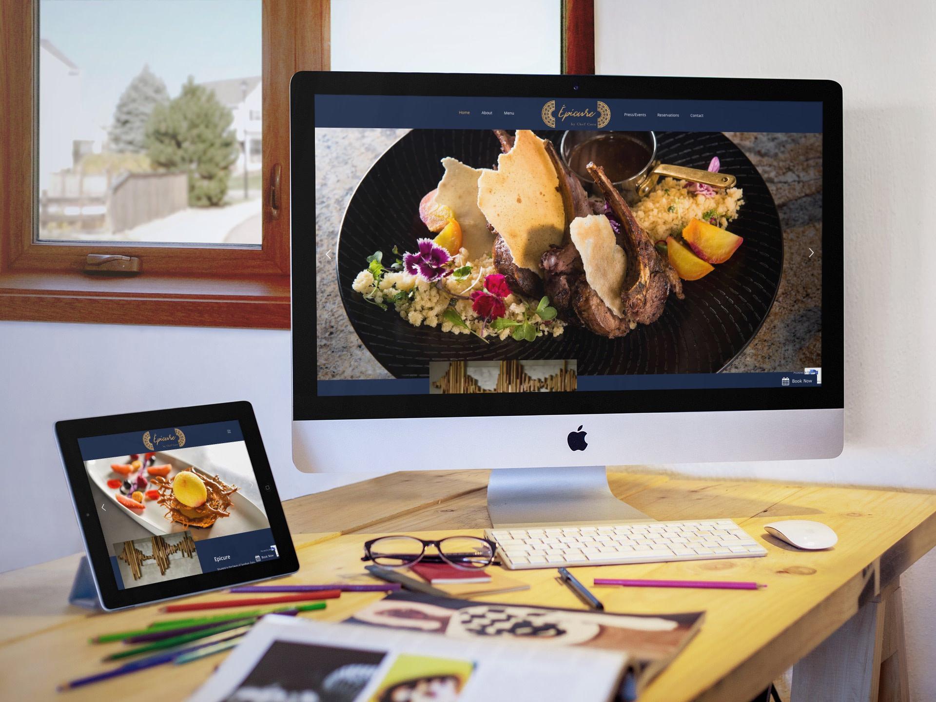 Epicure Restaurant Website (Tablet | Desktop) | KEMOSO