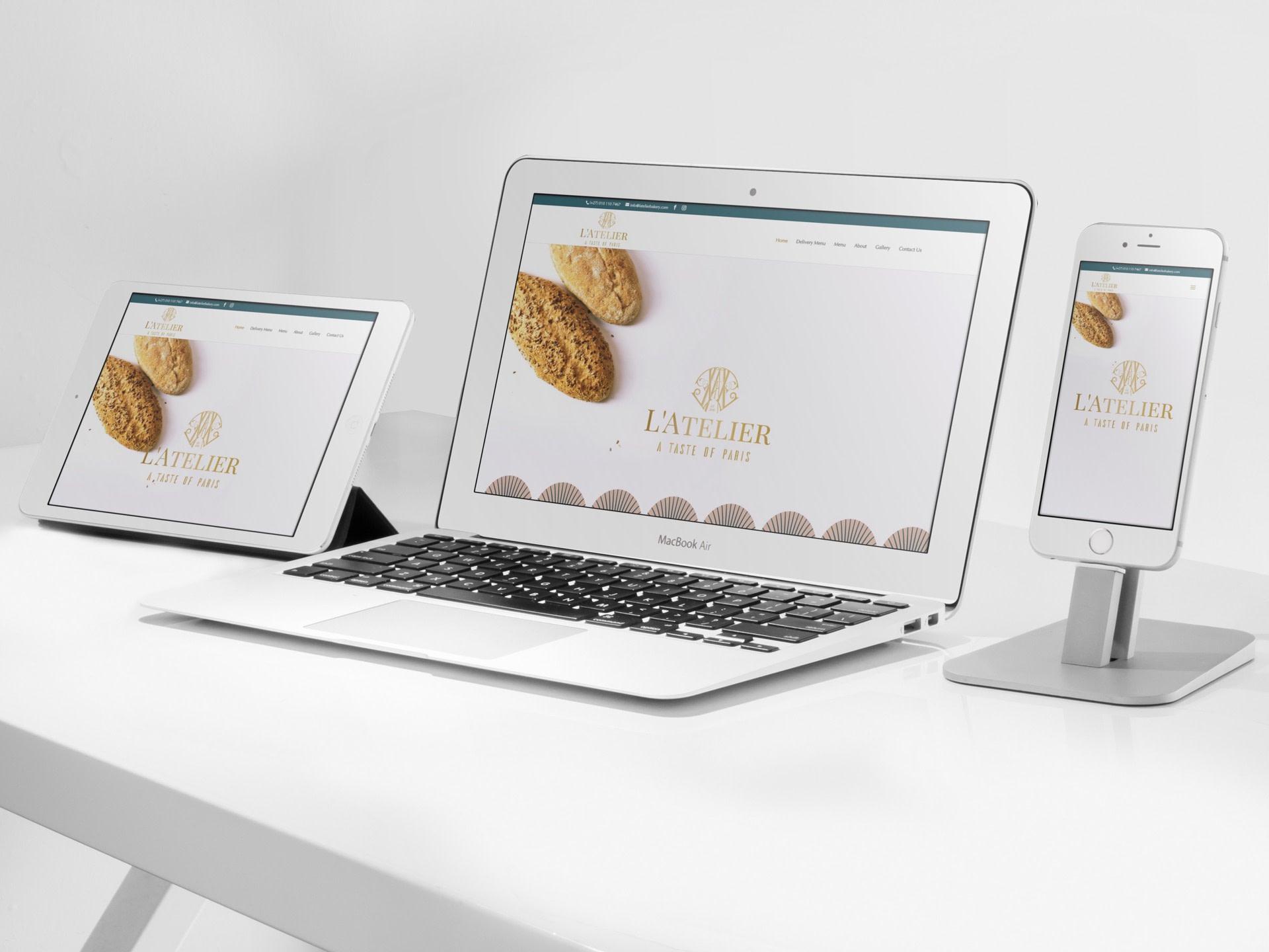 Latelier Bakery Website (Tablet   Desktop   Smartphone)   KEMOSO