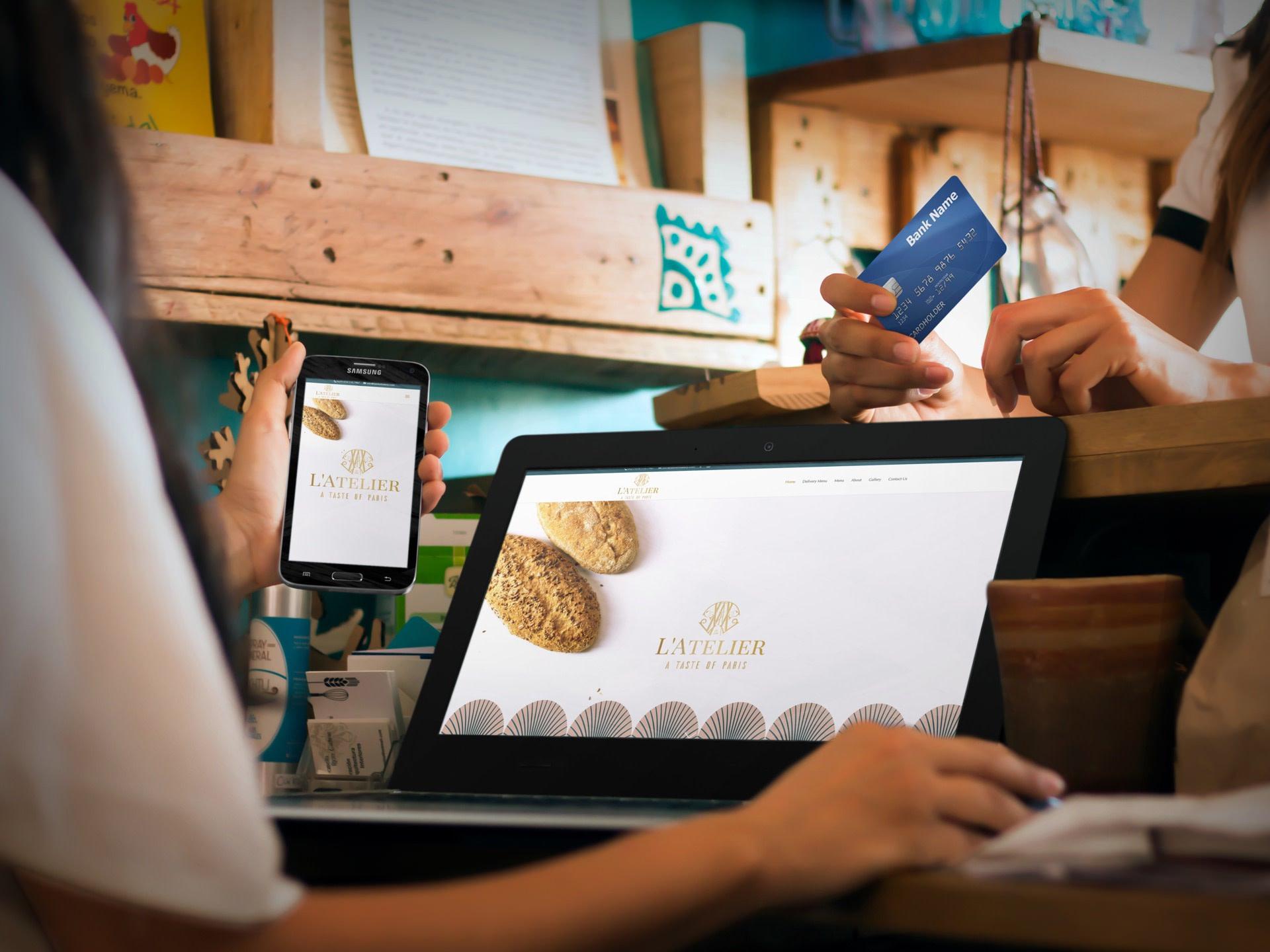 Latelier Bakery Website (Laptop & Smartphone)   KEMOSO