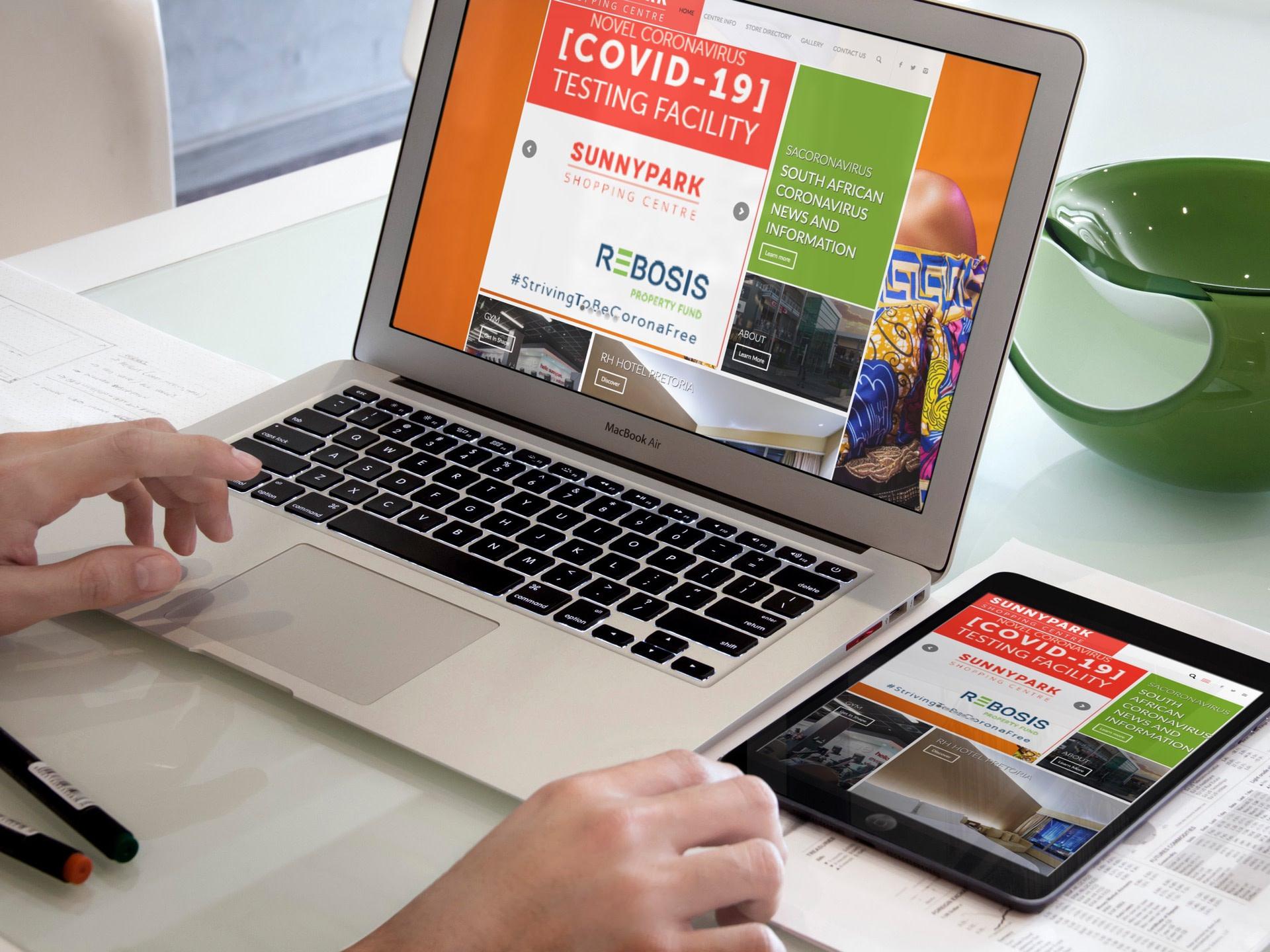 Sunnypark Center Website (Macbook Pro & iPad) | KEMOSO