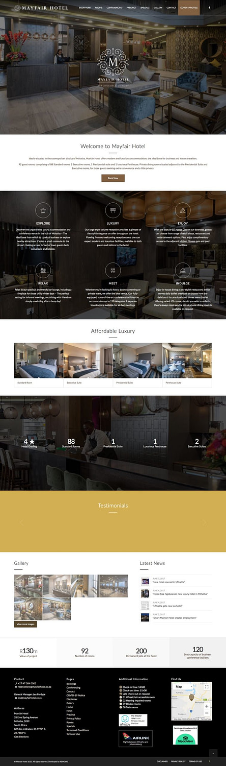 Mayfair Hotel (Home Page)   KEMOSO