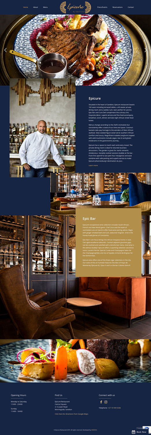 Epicure Restaurant (Home Page) | KEMOSO