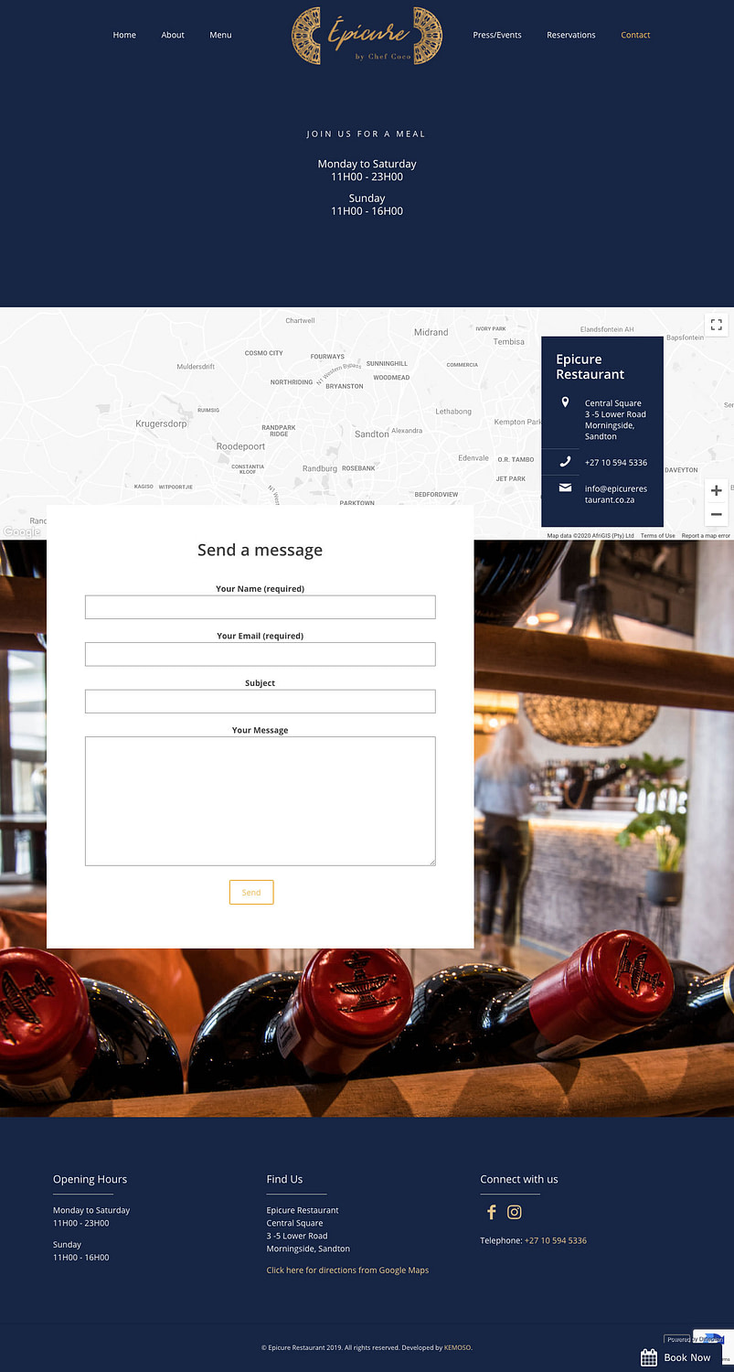 Epicure Restaurant (Contact Page) | KEMOSO